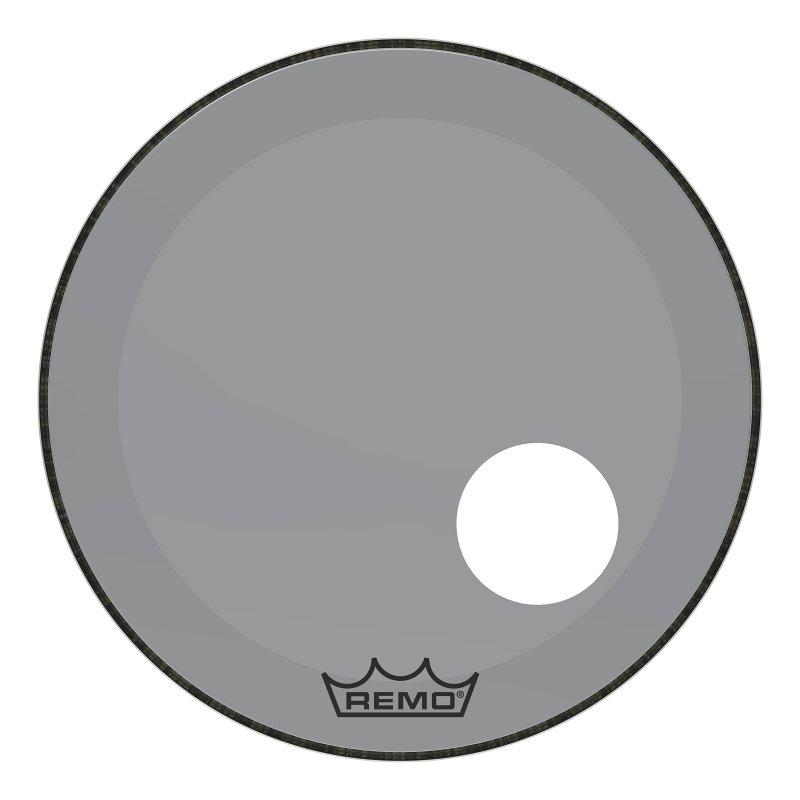 P3-1322-CT-SMOH Powerstroke® P3 Colortone™ Smoke Bass Drumhead, 22`, 5` Offset Hole
