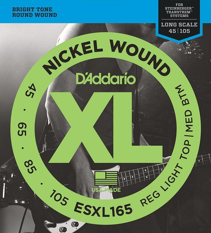 ESXL165 Nickel Wound Bass, Custom Light, 45-105, Long Scale