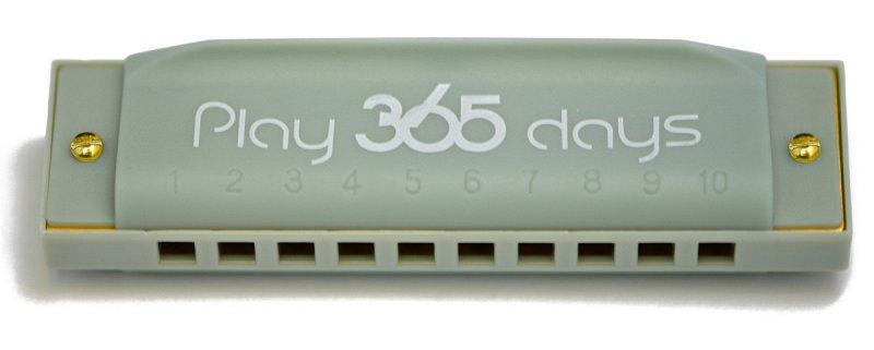 P365-1GY диатоническая губная гармошка детская/ С-До/Цвет серый