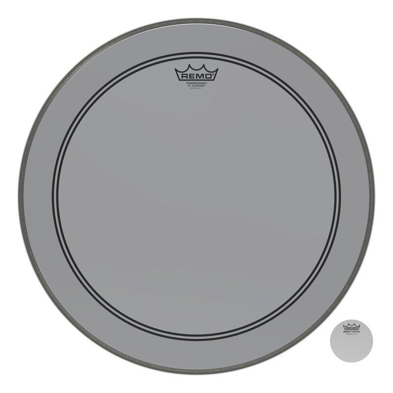 P3-1320-CT-SM Powerstroke® P3 Colortone™ Smoke Bass Drumhead, 20.