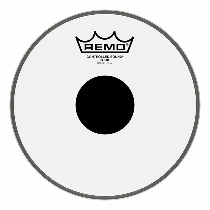 CS-0308-10- Batter, CONTROLLED SOUND®, Clear, 8` Diameter, BLACK DOT™ On Top