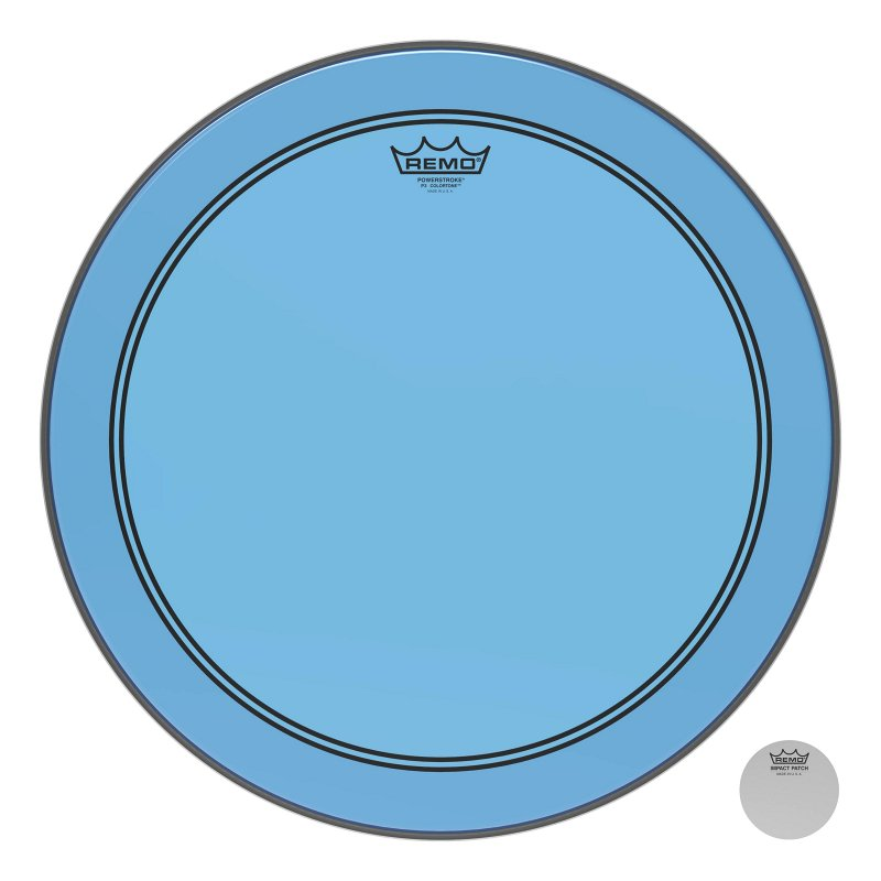 P3-1318-CT-BU Powerstroke® P3 Colortone™ Blue Bass Drumhead, 18.