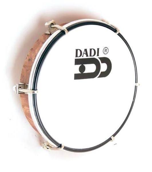 DADI HD10/P Тамбурин (бубен) ручной 10` настраиваемый с пластиковой мембраной, материал - пластик, цвет натуральный, матовый.