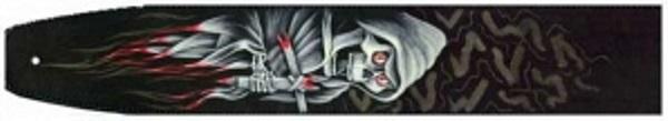 1G3-06 Ремень для гитары, двухслойная кожа, рисунок, 65мм. фото