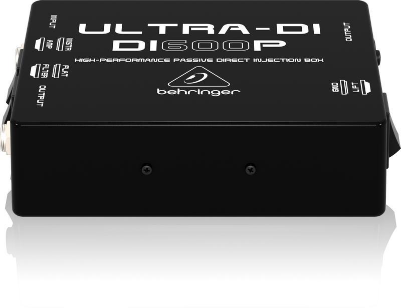 DI600P- Пассивный DI-box с согласов для прям подключ инструм./выходов усилит. к микшеру