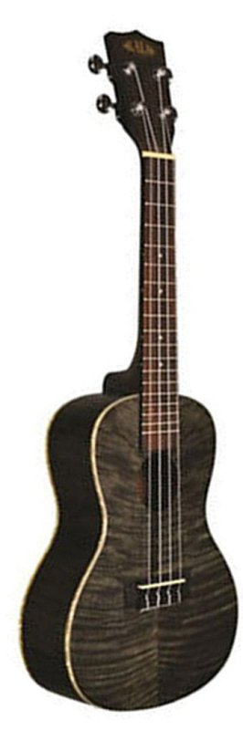 KA-SEMBK Soprano Exotic Mahogany Black Ukulele
