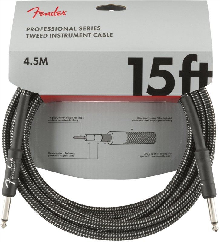 FENDER 15` INST CABLE GRY TWD фото