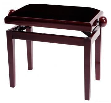 Piano Bench Deluxe Mahogany Highgloss банкетка красное дерево глянцевая прямые ножки верх бордо