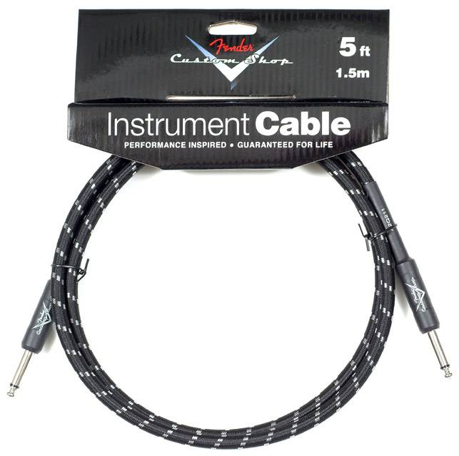 CUSTOM SHOP 5` INSTRUMENT CABLE BLACK TWEED