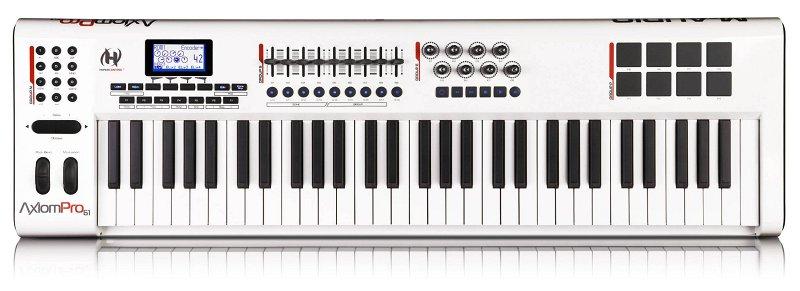 Axiom Pro 61 USB MIDI , 61, 8 , 8 (velocity-sensitive), LCD , Ableton Live Lite 4.
