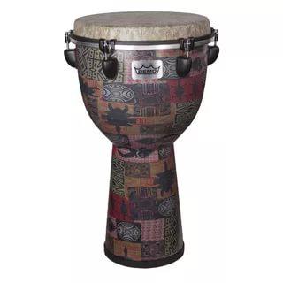 DJ-6112-57- Djembe, Designer Series, Apex, 12` X 22`, Key-Tuned, SKYNDEEP® FIBERSKYN®, Beige Drumhead, Red Kinte