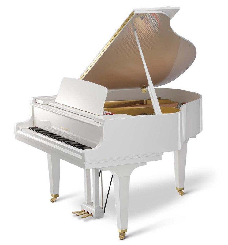 GL-30 WH/P кабинетный рояль/Длина166см/белый полированный/покрытие клавиш акрил/фенол