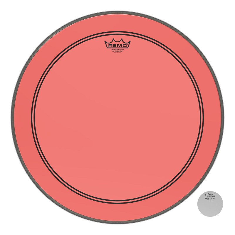 P3-1320-CT-RD Powerstroke® P3 Colortone™ Red Bass Drumhead, 20.