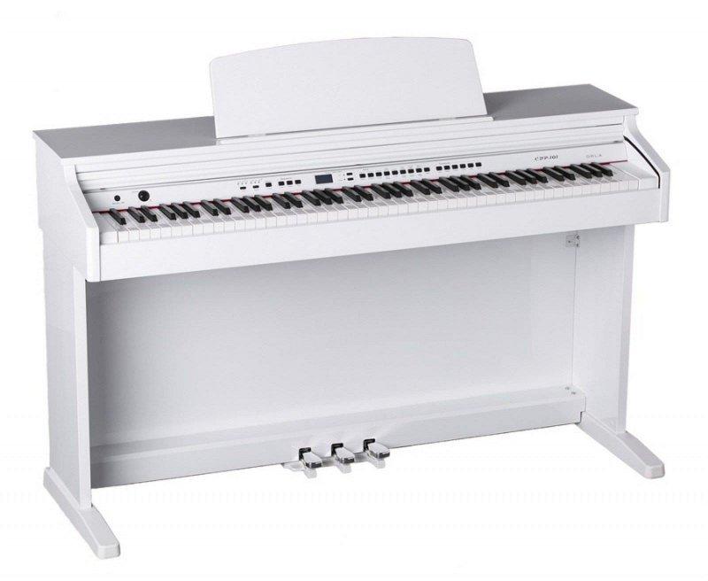CDP 101 Цифровое пианино, белое полированное