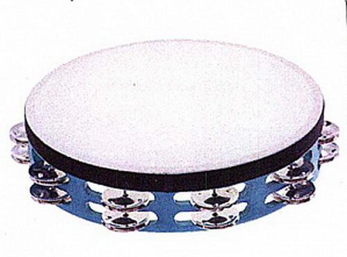 THD10BL2 Тамбурин 10` с кожей, синий, два ряда бубенцов