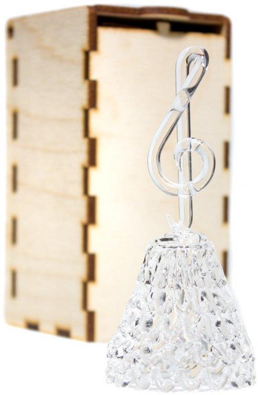 GH-M010 Колокольчик хрустальный «Скрипичный ключ», средний фото