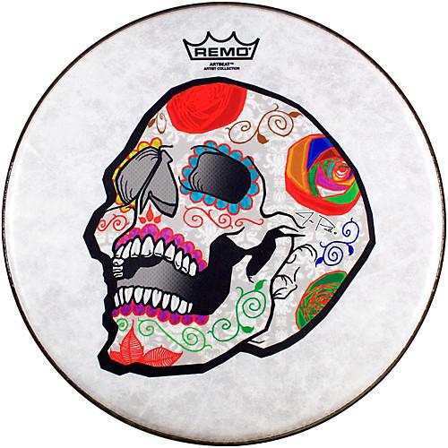 CS-0814-20-AB002 14` Skyndeep®, Suede®, Clear Dot Bottom, Candy Skull, REMO  - купить со скидкой