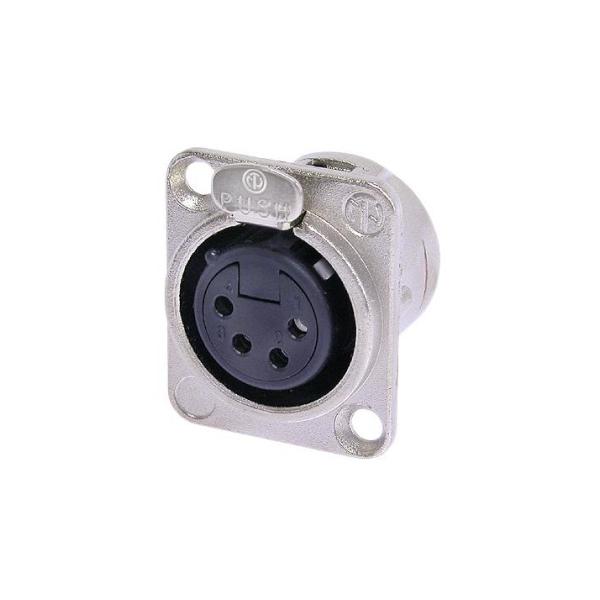 NC4FD-L-1 - панельный разъем XLR мама 4 контакта