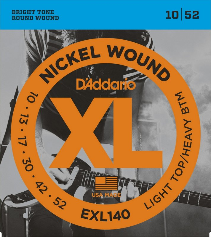 EXL140 NICKEL WOUND LIGHT TOP/HEAVY BOTTOM 10-52