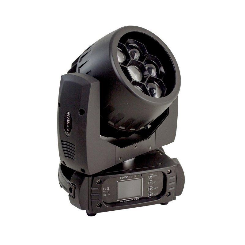 PROZOOM715 - LED вращающаяся голова, 7х15 Вт, COB RGBW, DMX-512