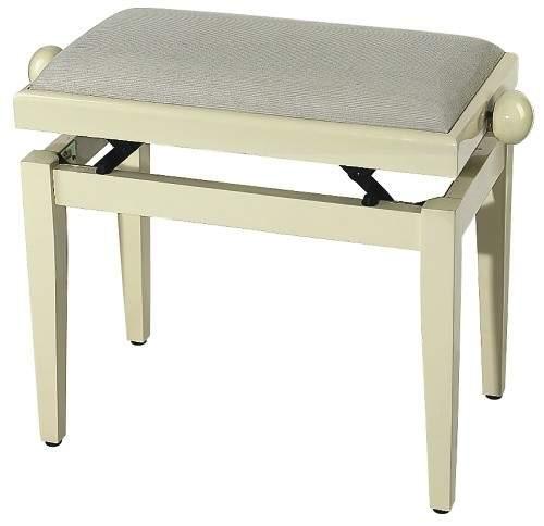 FX Piano Bench Ivory Highgloss Beige Seat банкетка слоновая кость полированная верх бежевый
