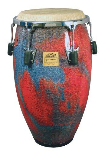 CG-3212-LM- PONCHO SANCHEZ™ Conga, 12.50` Diameter, 30` Depth, Chrome Curved Rim Hoop, NUSKYN® Head, Fabric Multi-Mask