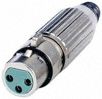 AAA5FZ AAA Series 5 Pin XLR Female Cable Mount, Silver Pins / Nickel Metal
