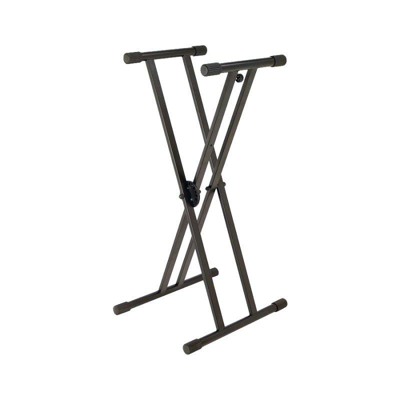 KS7591 - клавишная стойка крестообразная, двойная рама, регулируемая высота.