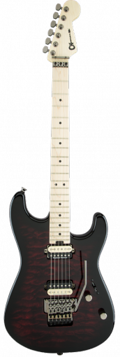 Pro-Mod San Dimas® Style 1 HH FR, Maple Fingerboard, Transparent Red Burst