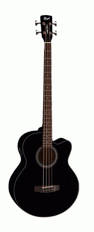 SJB5F-BK Acoustic Bass Series Электро-акустическая бас-гитара, с вырезом, черная