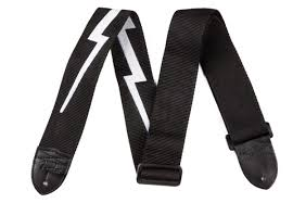 2.5` NYLON LIGHTNING BOLT STRAP BLACK