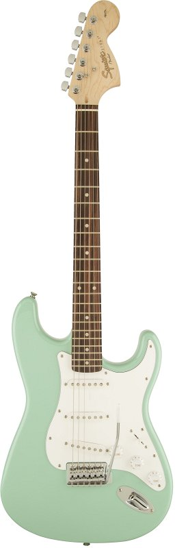 SQUIER AFFINITY SERIES STRATOCASTER LAUREL FINGERBOARD SURF GREEN фото