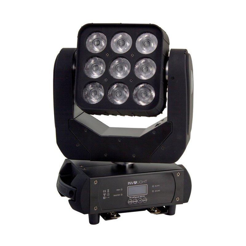 PROPANEL910 - LED вращающаяся голова `Matrix` светодиоды 10 Вт RGBW, DMX-512