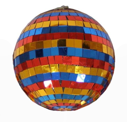 Light зеркальный шар разноцветный 5 см