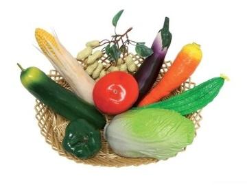SHAKER VEGETABLE BASKET набор шейкеров овощи, 9 предметов
