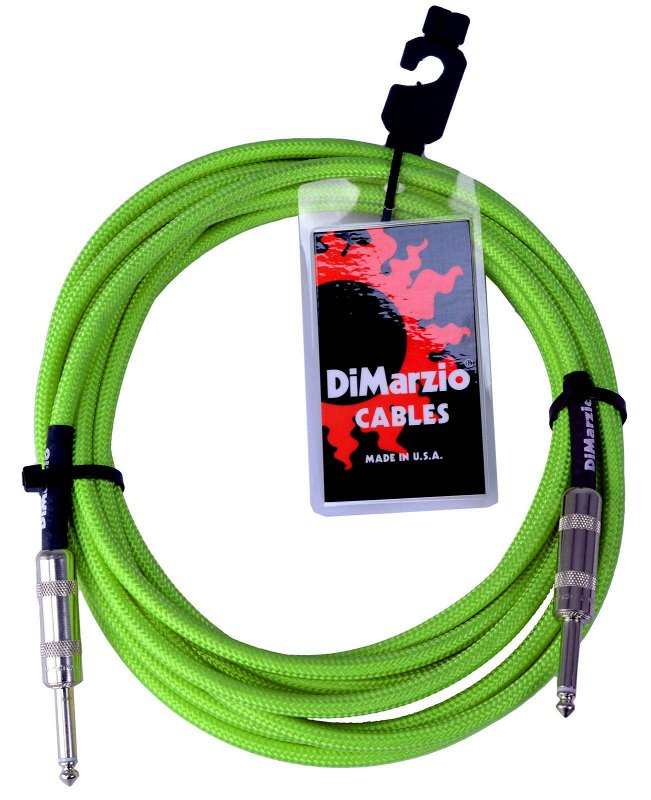 INSTRUMENT CABLE 18` NEON GREEN EP1718SSGN