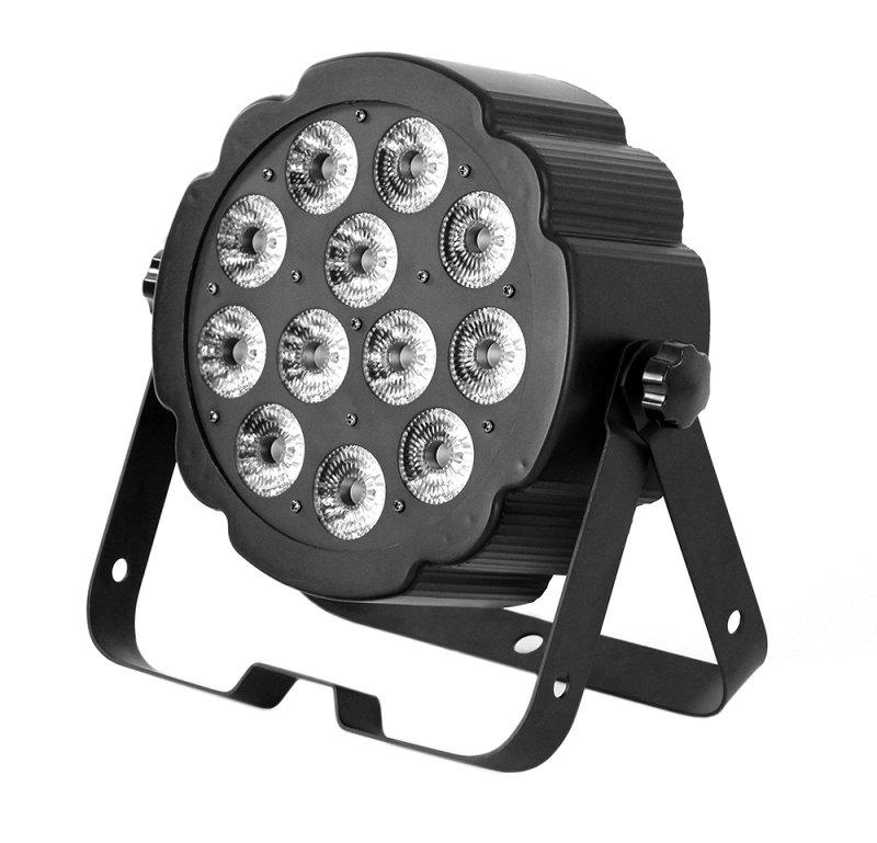 LED SPOT124 - светодиодный прожектор, 12 х 5 Вт RGBW мультичип, DMX