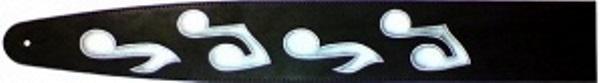 1G2-27 Ремень для гитары, двухслойная кожа, рисунок, 65мм. фото