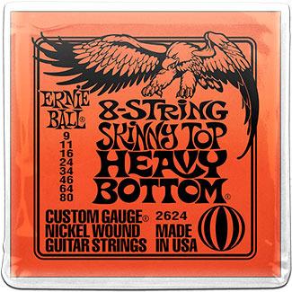 2624 струны для эл.гитары 8-STRING SLINKY SKINNY TOP HEAVY BOTTOM
