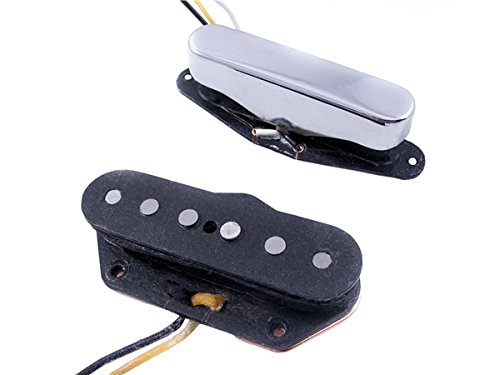 Twisted Tele Pickups, Black/Chrome (2)