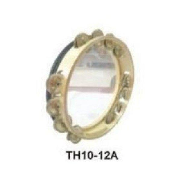TH10-12A Бубен-Тамбурин с 4х3 бубенцами, прозрачная мембрана 10 дюймов, усиленный обод