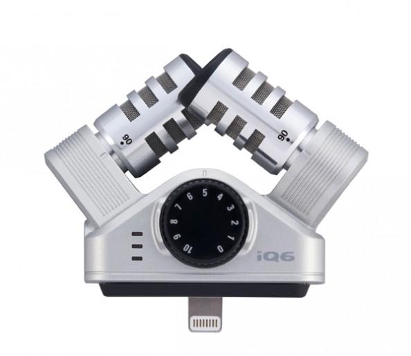 IQ6 iOS-совместимый стерео-микрофон,охват поля – 90/120°, 8-pin Lightning порт цвет серебристый