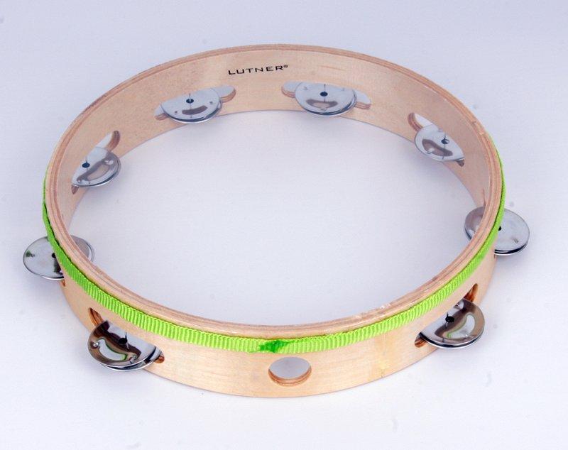 TH10-8C Тамбурин с 8 бубенцами и прозрачной мембраной, 10 дюймов