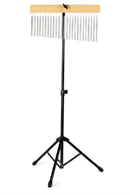 DADI WB-01 Чимес на стойке (хромированные трубочки на деревянном основании, черная металлическая стойка.