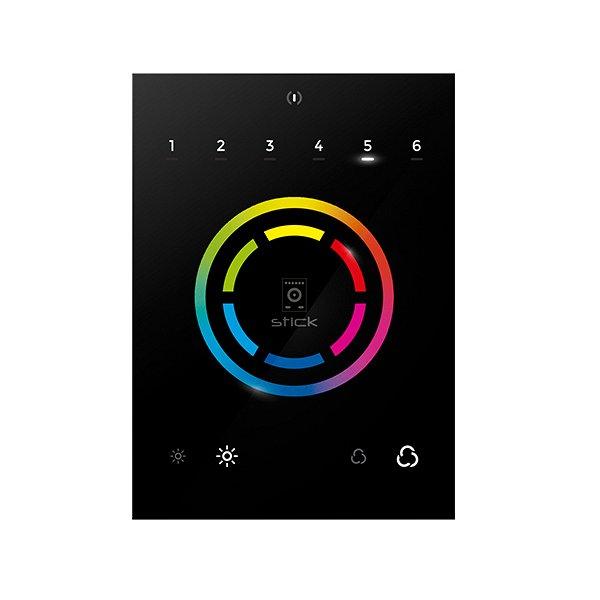 STICK-CU4 - настенный сенсорный DMX контроллер, 512 каналов, цветной дисплей