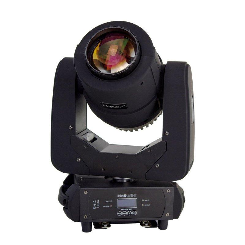 PROFX60 - LED вращающаяся голова спот/бим/flower-эффект, RGBW 60 Вт COB, DMX-512