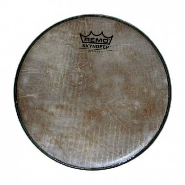 BD-0008-00-SD001 Doumbek Drumhead, R Series, SKYNDEEP®, 8` Diameter, 1/2` Collar, Wide Hoop, `Fish Skin` Graphic