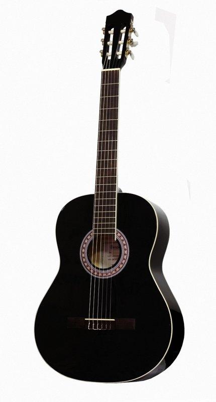 CG36BK 3/4 - Классическая гитара,3/4,цвет-чёрный, глянцевый