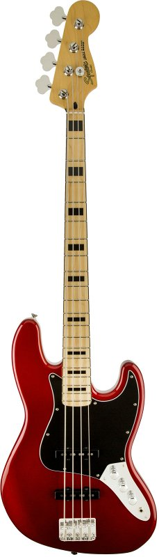 SQUIER VINTAGE MODIFIED JAZZ BASS® `70S MAPLE FINGERBOARD CANDY APPLE RED