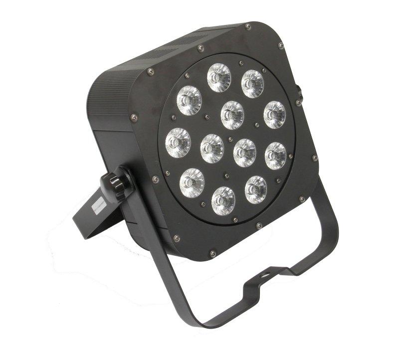 SLIMPAR126PRO - светодиодный RGBWA+UV прожектор, 10 Вт мультичип (12 шт.), DMX-512